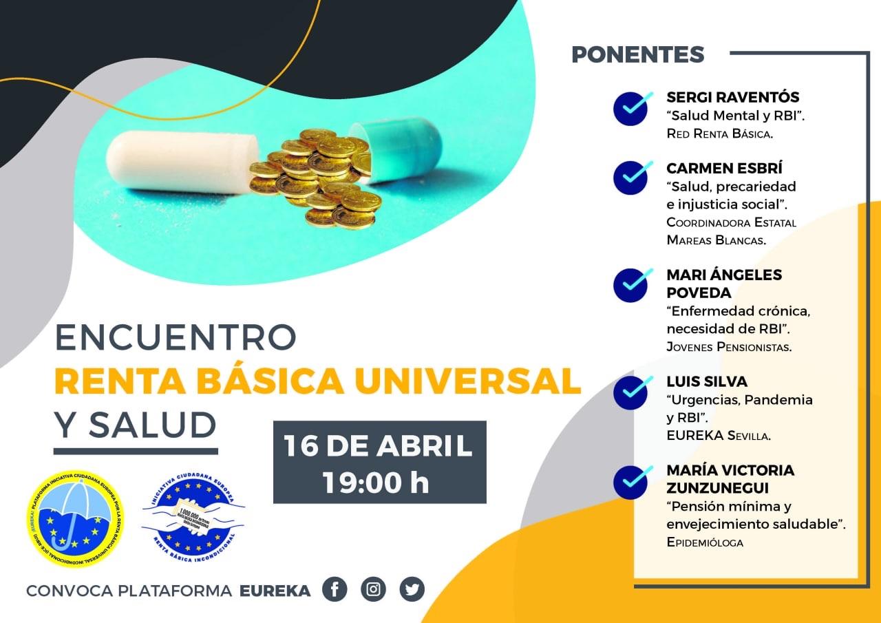 Encuentro Renta Básica Universal y Salud convocado por la plataforma Eureka