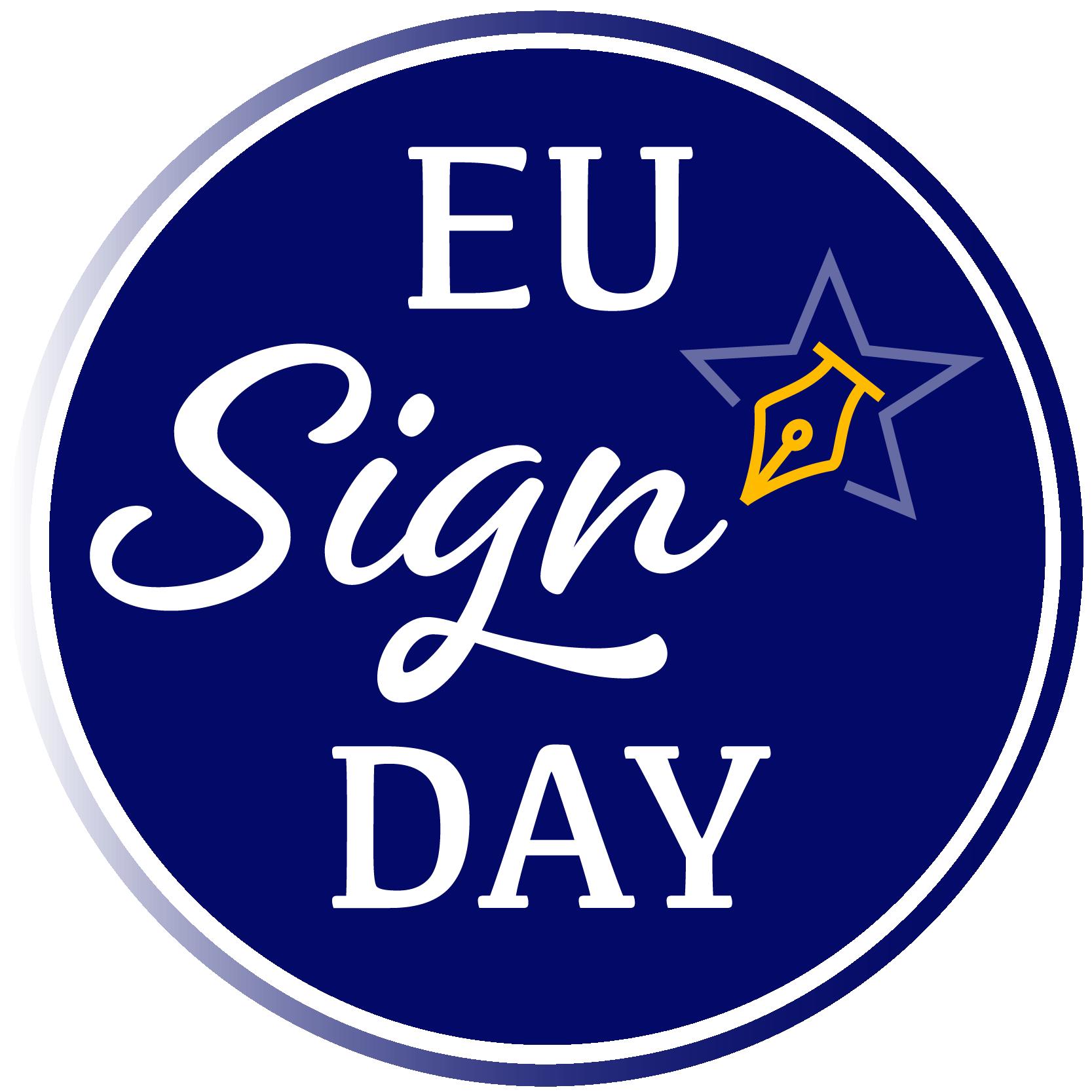 Día de la firma de Iniciativas Ciudadanas Europeas en el Día de la Unión Europea