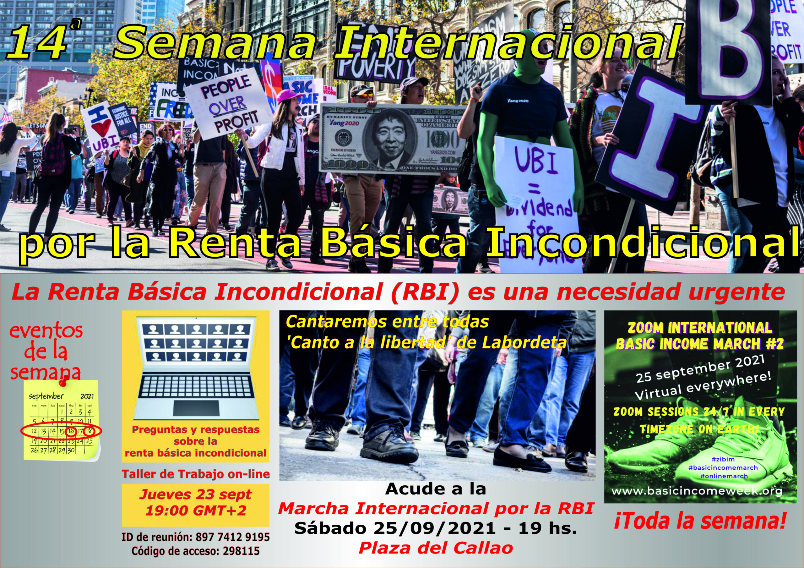 14 SEMANA INTERNACIONAL DE LA RENTA BÁSICA INCONDICIONAL